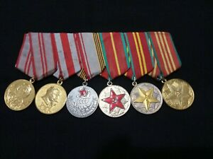 ☭Military Russian Soviet Medal x6 10/15/20/25/30/40 Years Armed Forces USSR CCCP