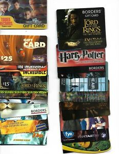 25 Different movie themed Gift Cards - NO redemption