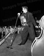 8x10 Print Elvis Presley on Stage Performing #3763