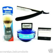 WILKINSON SWORD STRAIGHT CUTTHROAT RAZOR SHAVING SET - COMPLETE CUT THROAT SET