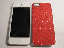 Red Diamond BLING iPhone SE 5S 5G 5 Designer Glitter Full Back Protective Case