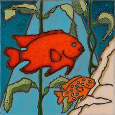 Ceramic tile Garibaldi Fish wall decor hotplate  backsplash installation mural
