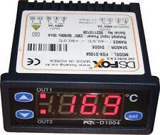 Temperaturregler Thermostat mit Sensor FOX D1004, 230 V Regler 2 Schaltpunkte