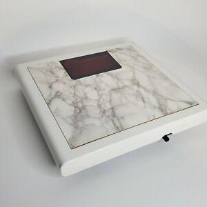 Vintage 80s Sunbeam Digital Bathroom Scale Faux Marble Top