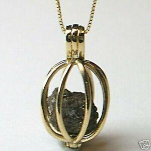 1 + Carato Grezzo Diamanti Gioielli 14K Oro Collana Cage