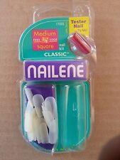 NAILENE SALON MEDIUM SQUARE NAILS PETITE TO CLASSIC 77005 12 KITS! Without Glue