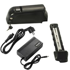 36V 16Ah(592Wh) mit Ladegerät & USB Li-ion Akku für E-Bike Ersatzakku Unterrohr