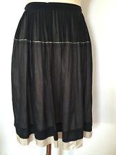 BNWOT Designer DKNY Double Layer Silk Skirt 8US/ 12 AU