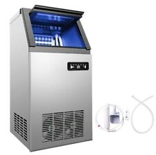 40kg 88lbs Commercial Bar Ice Maker Cube Machines Stainless Steel 110v Ca Local