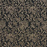 B606 Black, Floral Contemporary Woven Jacquard Upholstery Fabric By The Yard