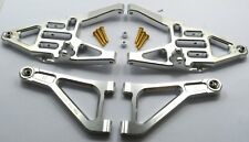 CNC Aluminum Front Lower & Upper Arms Silver For Traxxas Unlimited Desert Racer