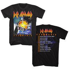 Def Leppard Pyromania Album Cover Men's T Shirt Heavy Metal Rock Band Tour Merch