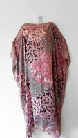 NEW PINK Handmade SILK Kaftan Plus Size Maxi Beach Caftan Resort Wear