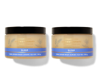 NEW! 2-pack SLEEP AROMATHERAPY LAVENDER VANILLA SHEA SUGAR SCRUB 12.5 oz lot set