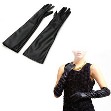 Women's Ladies Opera Evening Party Glove Faux Leather PU Over Elbow Long Gloves