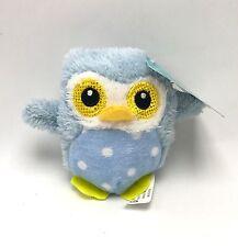 Owl Plush Stuffed Animal Blue Toy 4 inch New