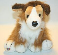 "Webkinz Retired Collie Plush Stuffed Puppy Dog lovey Toy 9"""