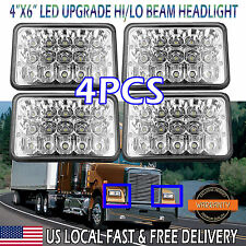 """Pack-4 4""""x6"""" Sealed Beam LED Headlights for FREIGHTLINER FLD 120 112 70 Classic"""