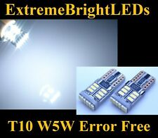 TWO Xenon HID WHITE 18-SMD T10 168 2825 W5W Canbus Error Free Parking light #11B