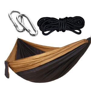 Nylon Durable Hammock Camping Sleeping Adult Swing Travel Tool 2 Person 4#