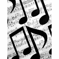 Musical Notes Sheet Music Large Canvas Wall Art Print