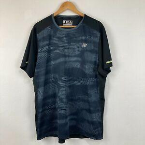New Balance Mens T-Shirt Size XL Extra Large Grey Black Short Sleeve Round Neck
