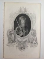Edward III 1859 Antique Print