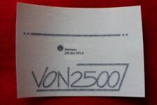 vw Bus T3 LLE Schriftzug .........von 2500 f. Türen -neu-/LLE Emblem 255.853.675