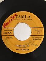 Northern Soul R&B 45 Marv Johnson Come To Me on Tamla HEAR