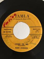 Northern Soul R&B 45 Marv Johnson Come To Me on Tamla HEAR