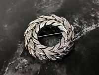 Lovely Silver tone Vintage Circular Brooch Jewellery by Trifari Jewellery