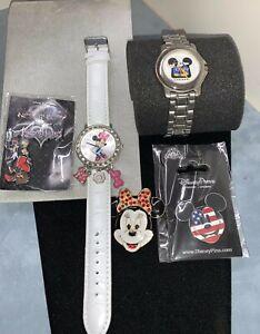 Nice Disney channel mens Mickey watch Mini watchES Goofy & Mickey  park pins