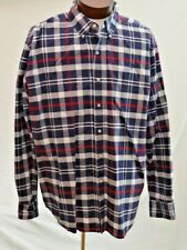 Chaps By Ralph Lauren Flannel White Sand Black Red Plaid Men/'s Shirt Big /& Tall