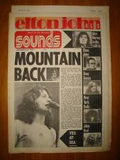 SOUNDS 1973 NOV 24 MOUNTAIN YES + ELTON JOHN POSTER