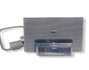 Sony Iphone Dock With Dual Alarm Clock Radio Model ICF-CS15IPN No Remote