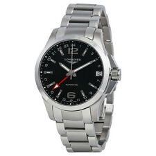 Longines Conquest Automatic Black Dial Stainless Steel Mens Watch L3.687.4.56.6