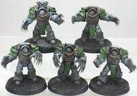 40K 30K Horus Heresy Death Guard Cataphractii Terminators Squad Lightning Claws