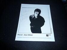 Alan wilder signed autographe 20x25 cm Depeche Mode