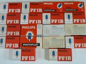 18x Lot Philips Pack of 5x New Vintage PF1B Photoflux Blue Dot Flash Bulbs