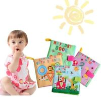 Soft Baby Cloth Book With numbers animals letter Toy Safety Baby Educational Toy