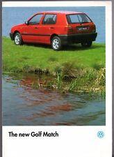 Volkswagen Golf Match Mk3 Limited Edition 1994 UK Market Sales Brochure 1.4 1.9D