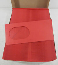 Box of 500 RED Size 10 Oval Window Mail Envelopes Gum Closure Flap