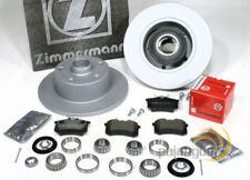 Audi A4 B5 - Zimmermann Bremsscheiben Bremsbeläge 2 Stück Radlager für hinten