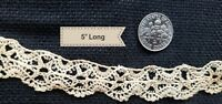 A15 Antique Dainty Lace Trim Edging Remnant Sewing Doll Cothes Tiny Dolls Collar