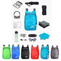 20L Folding Waterproof Nylon Backpack Lightweight Hiking Daypack Handy Packable