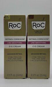 RoC Retinol Correxion Line Smoothing Daily Serum  .5 oz LOT OF 2
