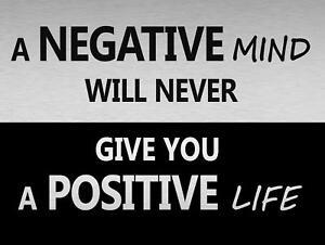 A Negative mind Positive Life Metal Tin Signs Retro Poster Art Wall Decor Plate