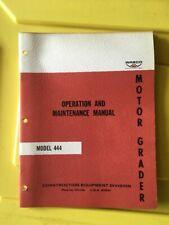 Wabco Model 444 Motor Grader Operators & Maintenance Manual (Original)