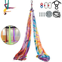 Aerial Silks Yoga Swing Kit Anti-gravity Fitness Strength Training10m