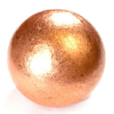 "CARVED - COPPER 30mm >1"" 5oz Precious Metal Ball (Sphere) with Description Card"